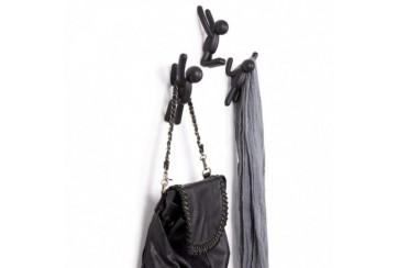 Umbra Buddy Appendiabiti, Plastica, 3 colore nero