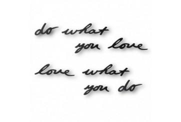 """Decorazione murale parole in metallo """"Do what you love"""""""