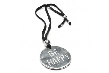 VESTOPAZZO - PENDENTE JERSEY PLAQUE BE HAPPY -